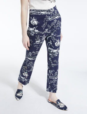 Cotton pique trousers