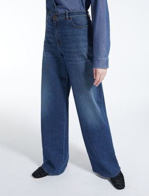 Jeans a palazzo in denim
