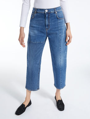 Straight-fit denim jeans
