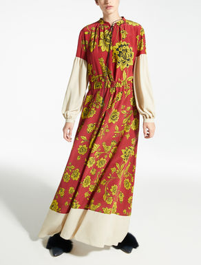 Silk crepe de chine dress