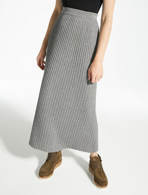 Wool, viscose and cashmere skirt