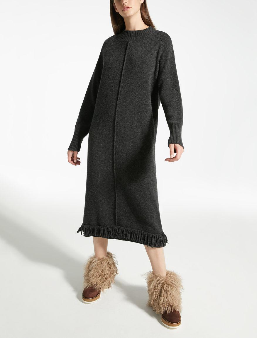 ピュア ウールニット ドレス