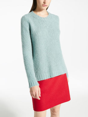 Mohair and wool yarn pullover