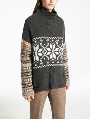Pull en maille de laine jacquard