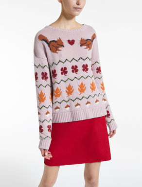 Jacquard wool yarn jumper