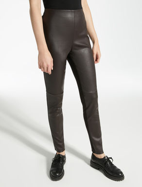 Stretch nappa leather trousers