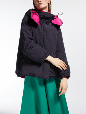 Reversible viscose down jacket