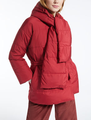 Water-repellent canvas down jacket