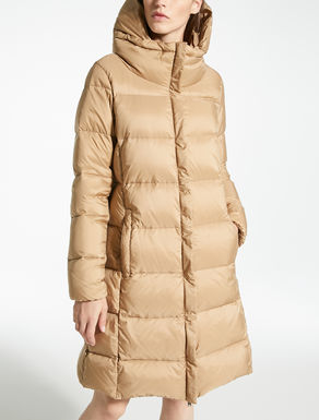 Water-repellent nylon canvas down coat