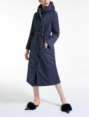 Water-repellent reversible down coat