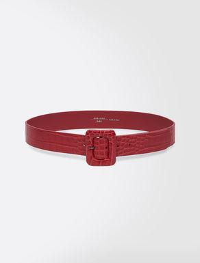 Cintura in pelle stampa cocco