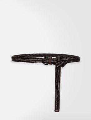 Cintura in pelle intrecciata