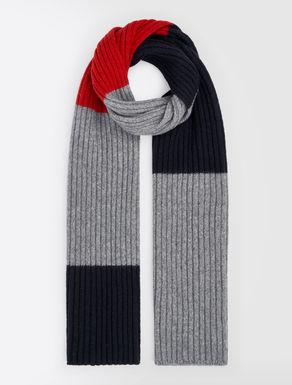 Sciarpa in lana a coste