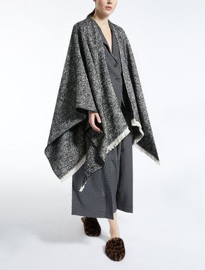 Wool, alpaca and mohair cape