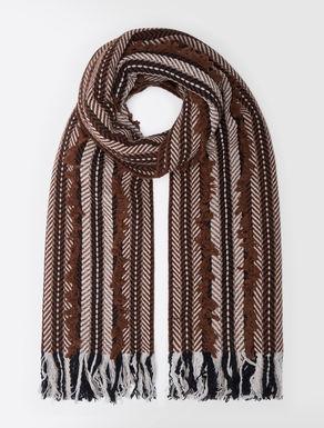 Wool blend stole