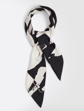 Printed silk twill foulard