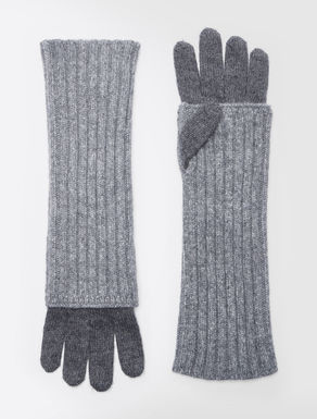 Alpaca and wool gloves