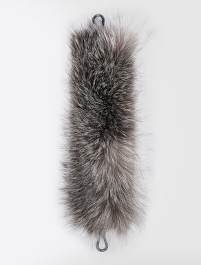 Fox fur crossbody bag