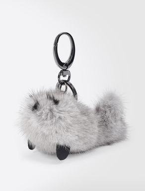 Mink fur charm