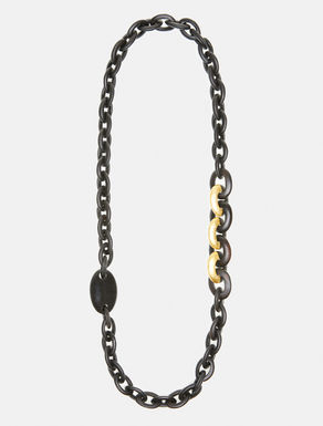 エボニー チェーンロング ネックレス