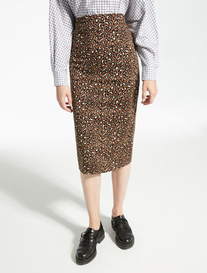 Technical jersey skirt with jacquard pattern