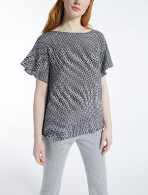 Silk and stretch jersey T-shirt