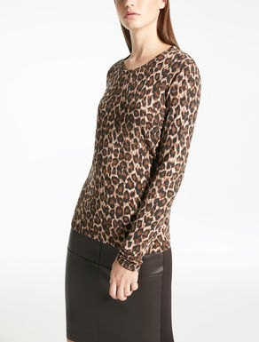 Viscose jersey and wool jumper