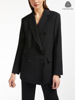 Wool crepe satin blazer