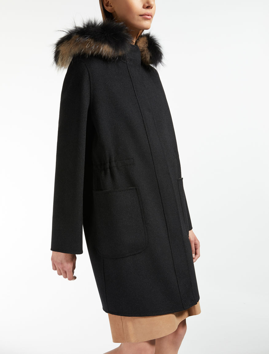 Wool, cashmere and silk parka