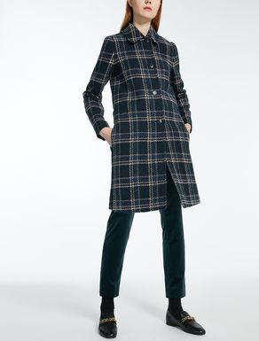 ウール ブレンドチェック コート