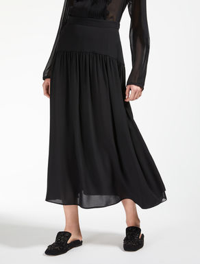 Silk georgette skirt