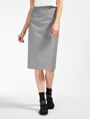 Wool and cotton flannel skirt