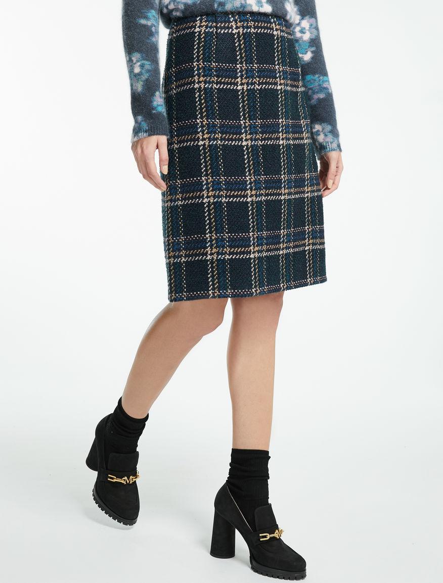 ウール ブレンドチェック スカート