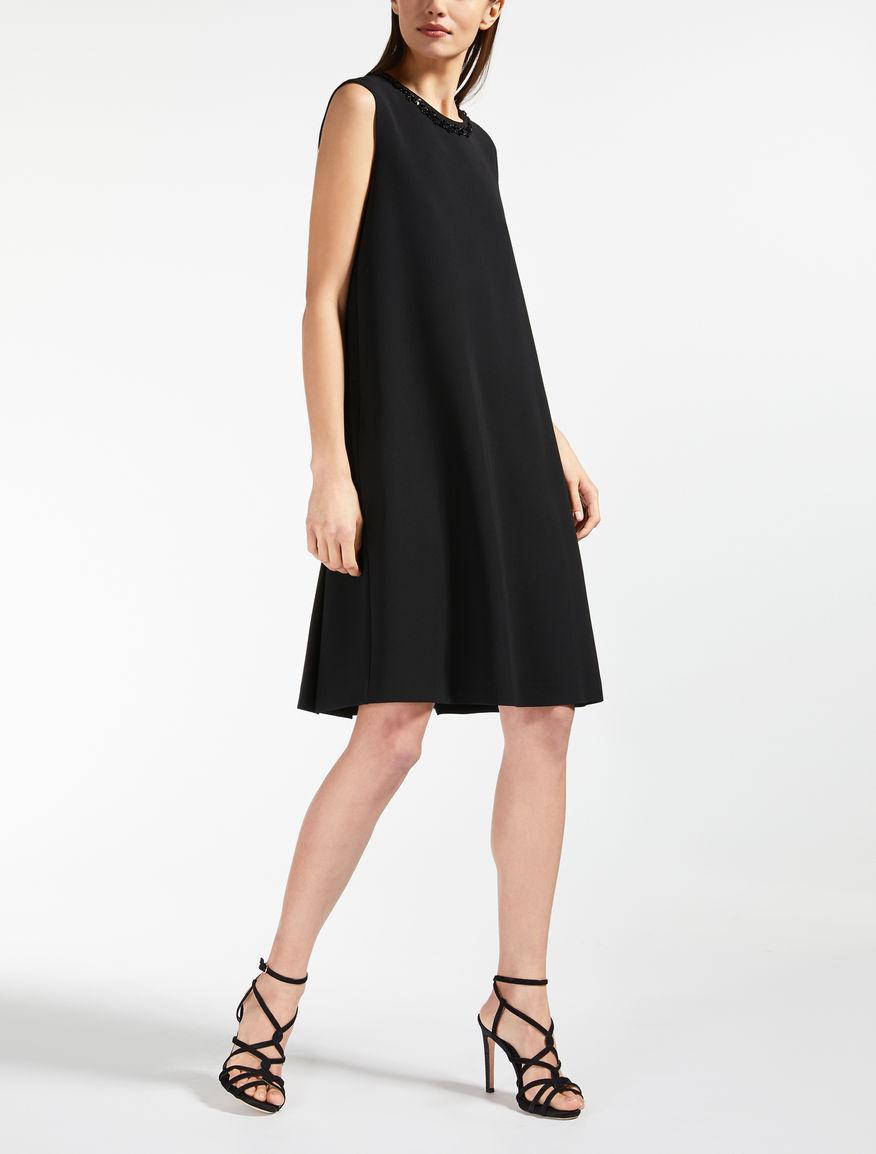 トリアセテート キャディスリーブレス ドレス