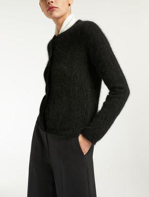 Angora yarn cardigan