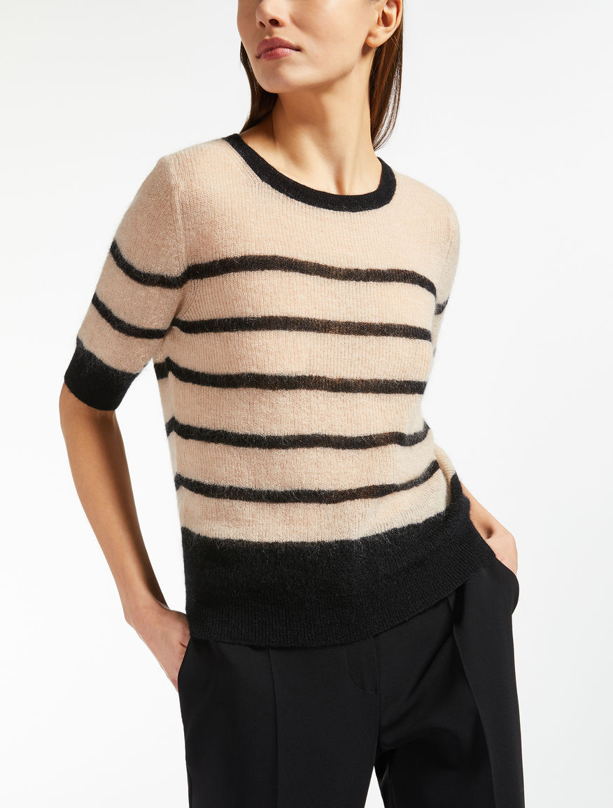 Pullover aus Mohair-Gaze