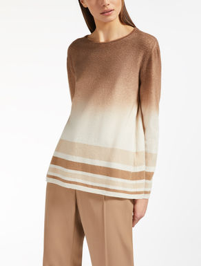 Cashmere and wool yarn jumper