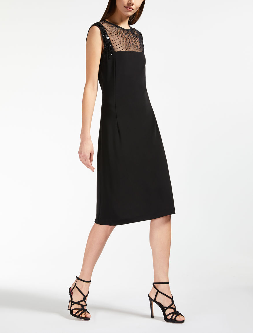 Tulle and viscose jersey dress