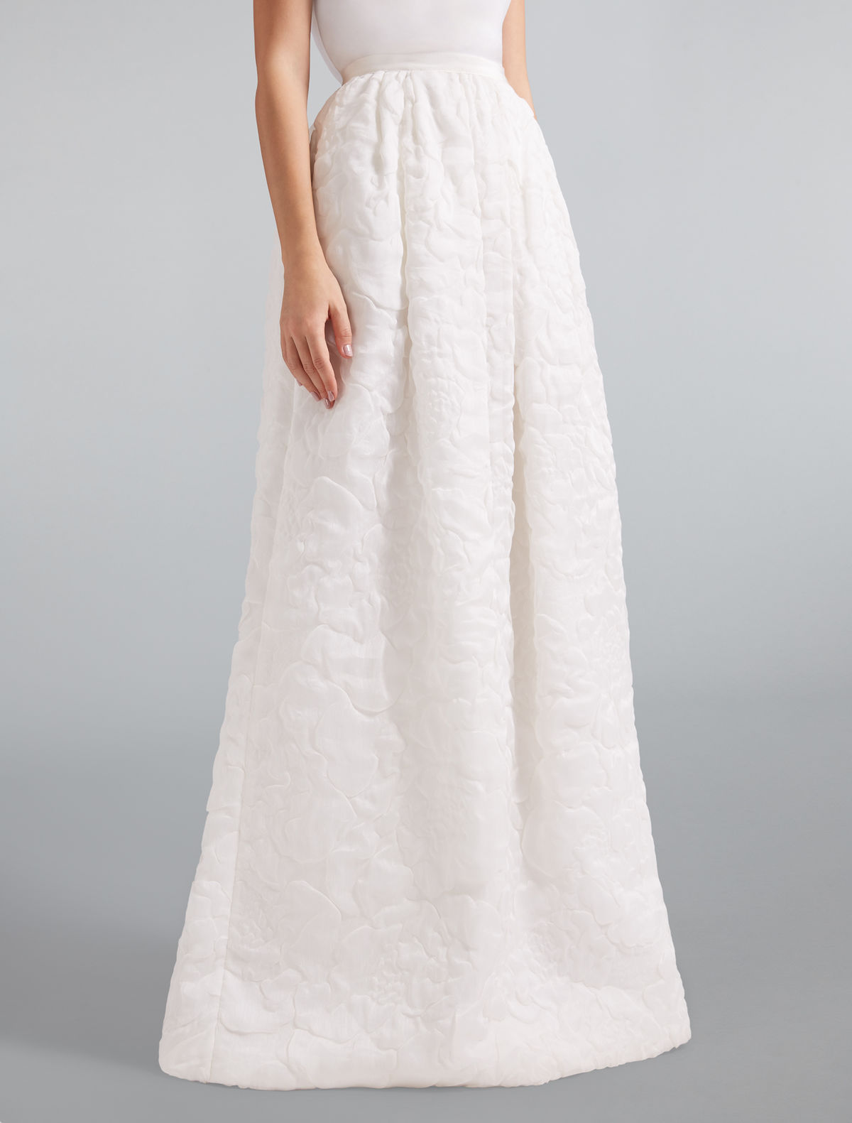 Cloqué organza skirt