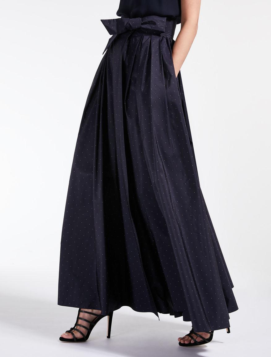 Printed taffeta skirt