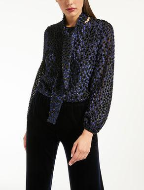 Blusa de fil coupé de seda