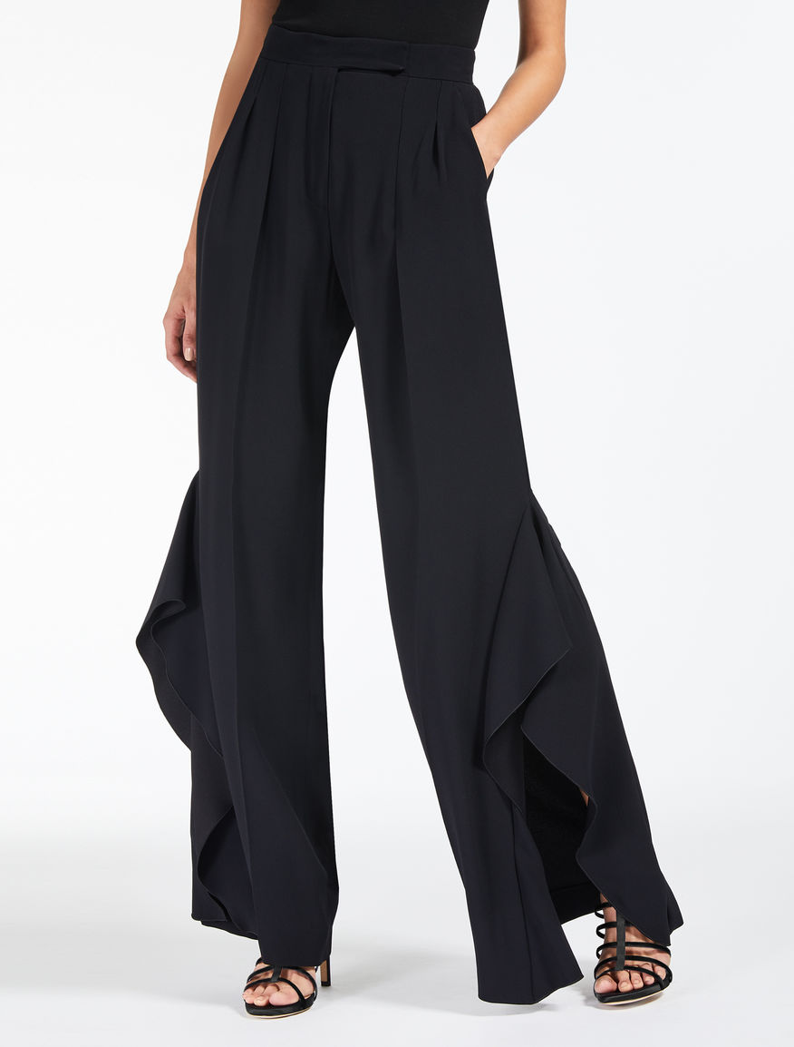 Envers satin crepe trousers