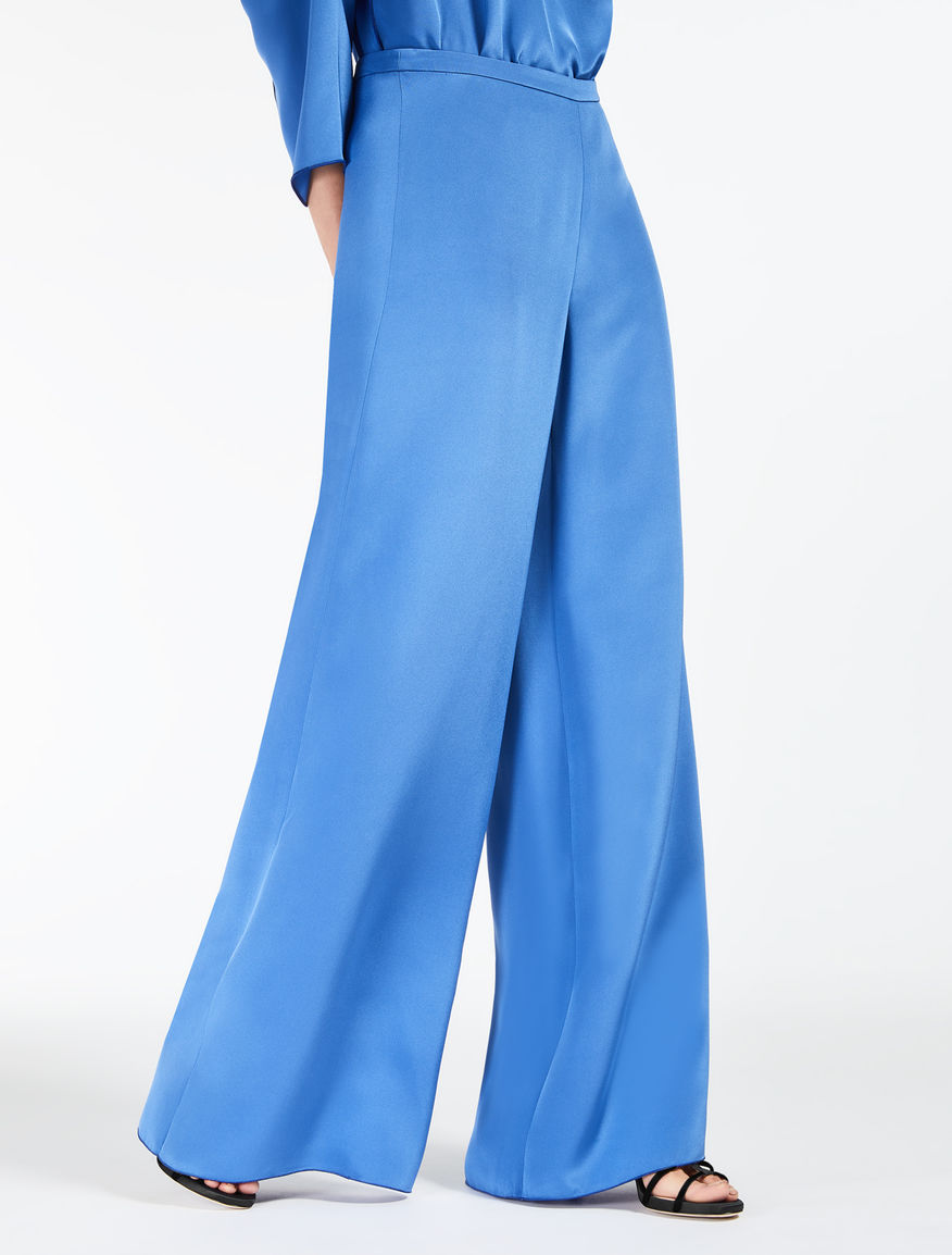 Silk crepe de chine trousers