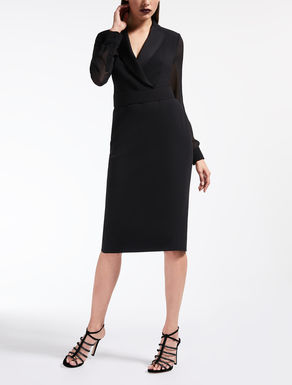 Envers satin crepe dress