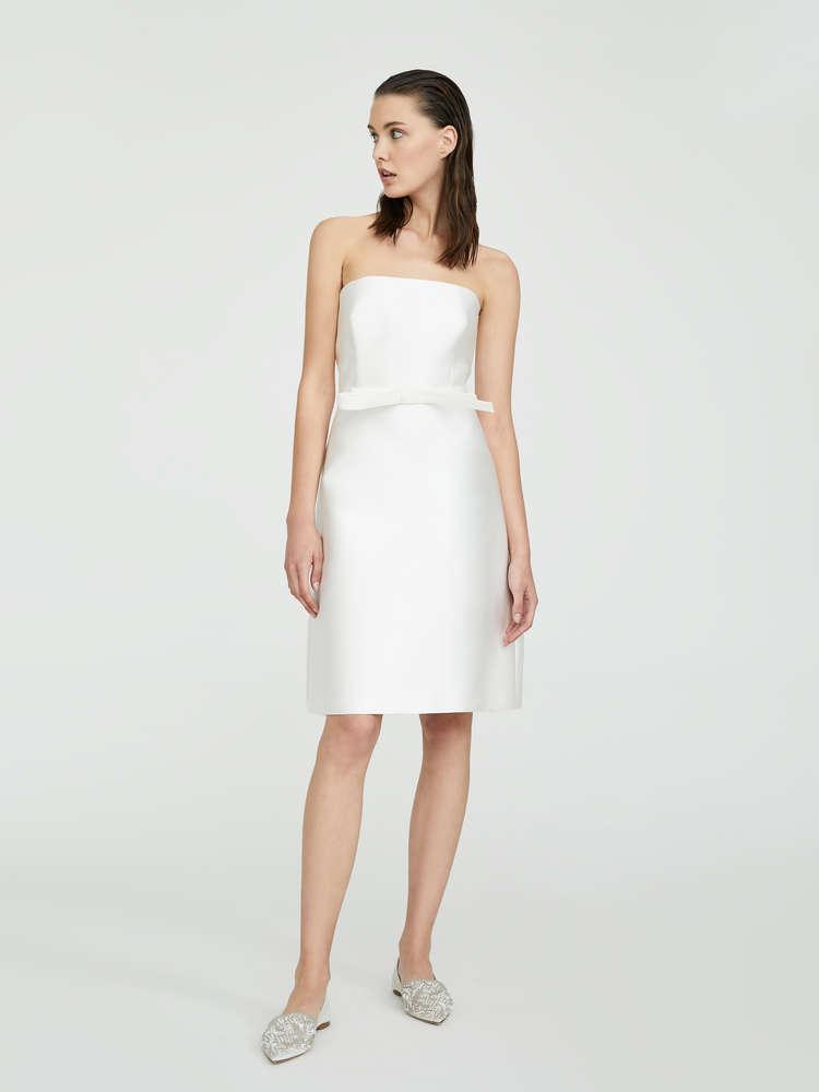 Duchess silk mini dress