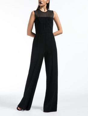 Silk georgette and cady jumpsuit