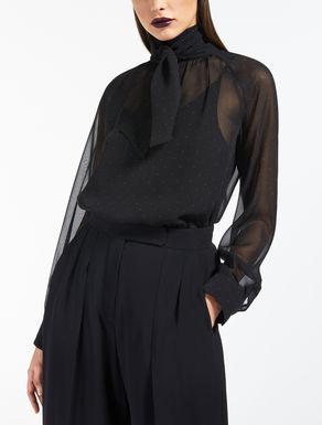 Blusa en georgette de seda