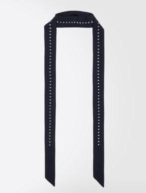 ピュア シルクラインストーン スカーフ