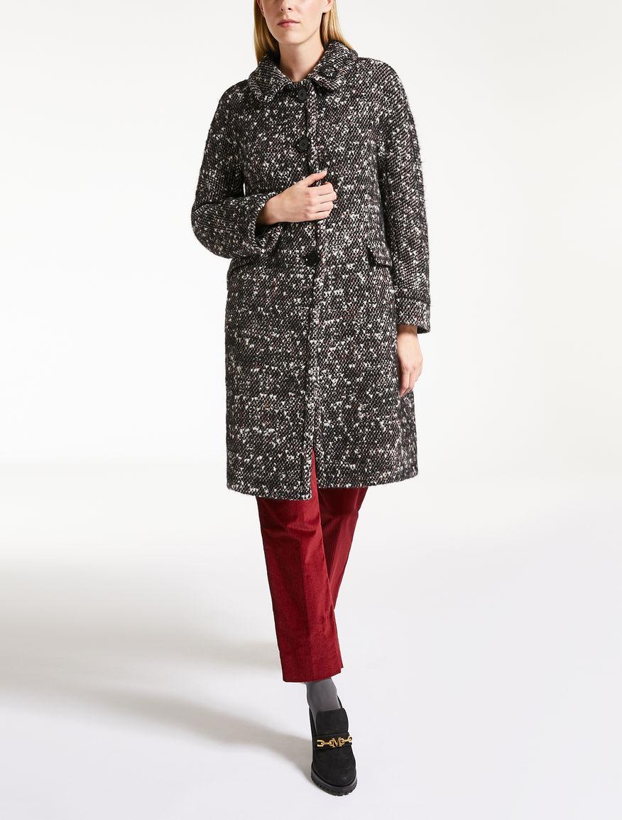 Mohair wool tweed coat