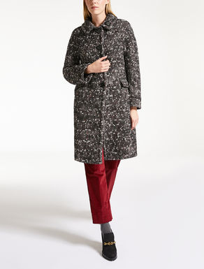 Mohair wool tweed coat